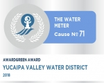 Awardgreen Award 71 awarded to Yucaipa Valley Water District