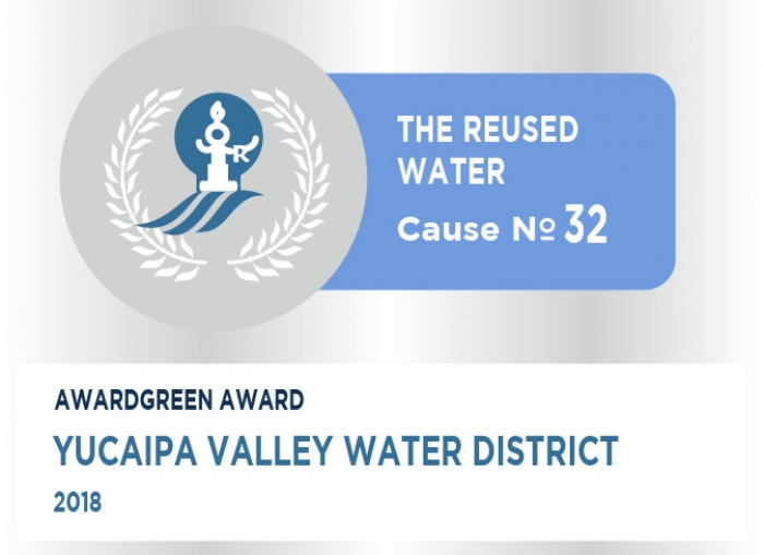 Awardgreen Award 32 awarded to Yucaipa Valley Water District