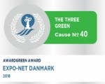 Awardgreen Award 40 honor for Expo-Net Danmark
