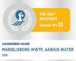 Awardgreen Award 20 awarded to Marselisborg Wastewater Treatment plant