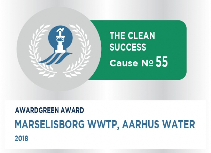 Awardgreen Award 55 awarded to Marselisborg Wastewater Treatment plant